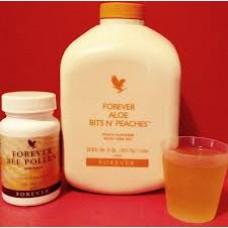 Nước uống dinh dưỡng Forever Aloe Bits N'peaches Lô Hội