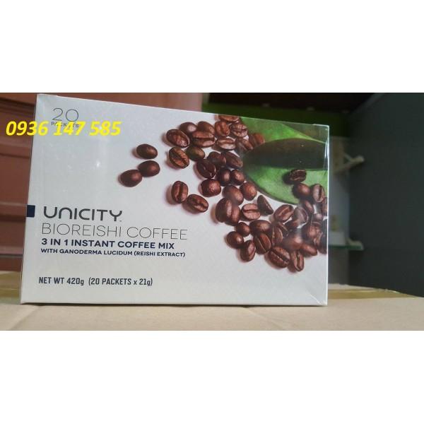 Caffe UNICITY Bioreishi coffee mẫu mới